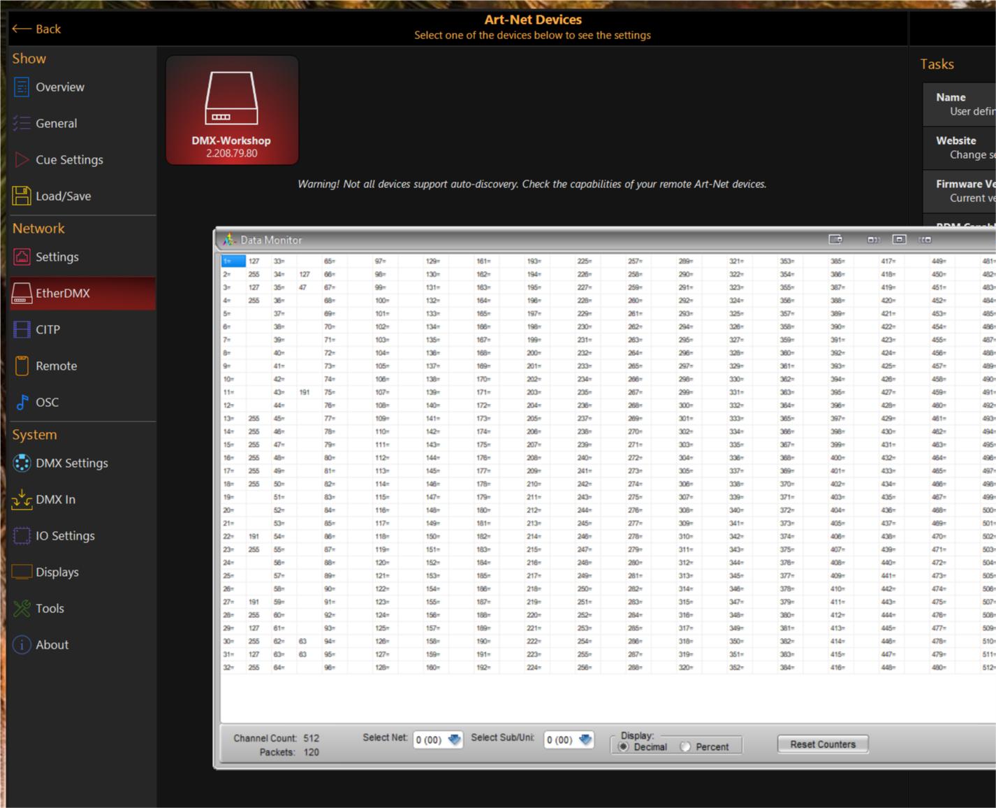 No sACN or artnet anymore, windows 10 home - Software